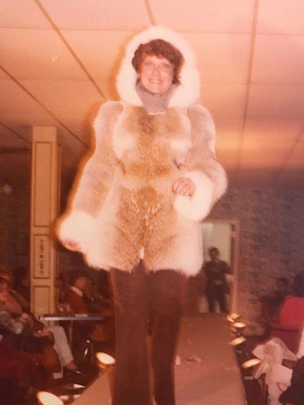 Manteau de fourrure blanc vintage - Fourrure Abitibi360