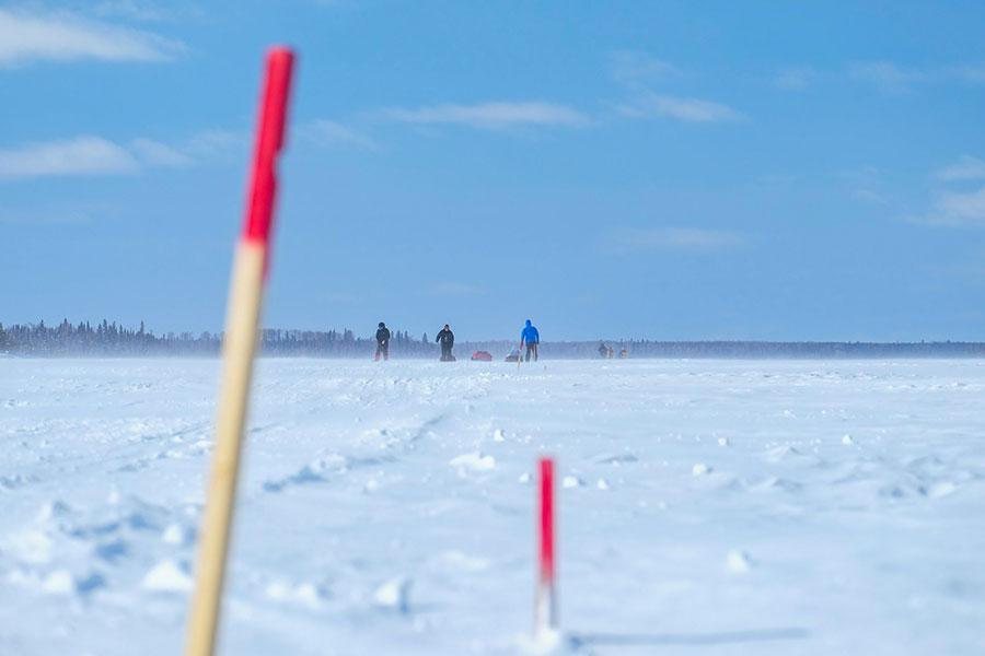Repère baton skier - Froid Abitibi360