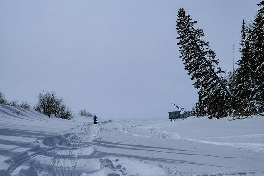 Skieur sur le lac - Froid Abitibi360