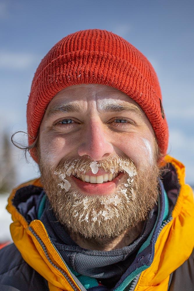 Visage gelé et souriant - Froid Abitibi360