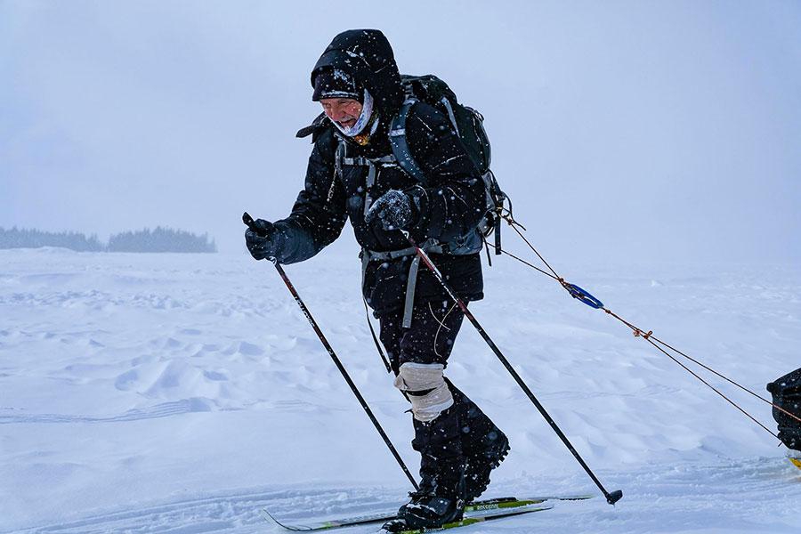 Skieur au froid - Froid Abitibi360