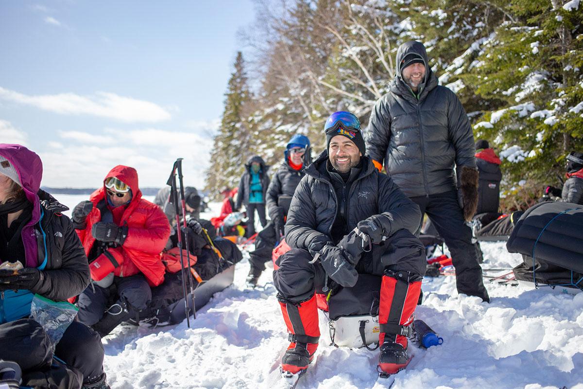 Skieurs équipe - Froid Abitibi360